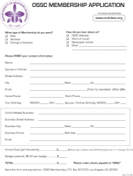 OSSC Membership Application